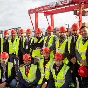 Joined by officials of government authorities in the Port KING ABDULLAH PORT DELEGATION VISITS LIVERPOOL PORT AND MEETS UK MARITIME OFFICIALS