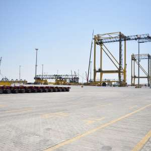 Committing to the implementation of the MoU sponsored by the Crown Prince KING ABDULLAH PORT RECEIVES 28 CRANES TO INCREASE ANNUAL CAPACITY OF CONTAINER TERMINALS TO 5 MILLION TEU