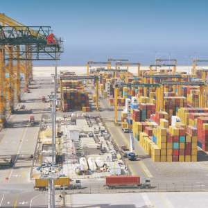 On the first anniversary of the declaration of Vision 2030 KING ABDULLAH PORT RAPIDLY CONTRIBUTING TO THE REALIZATION OF VISION 2030, TRANSFORMING THE KINGDOM INTO A GLOBAL LOGISTICS HUB